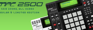 Akai MPC 2500 Icons by Daoud1