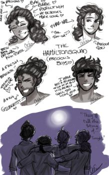 Some Hamilton sketches~ by A-Kitty-Lion