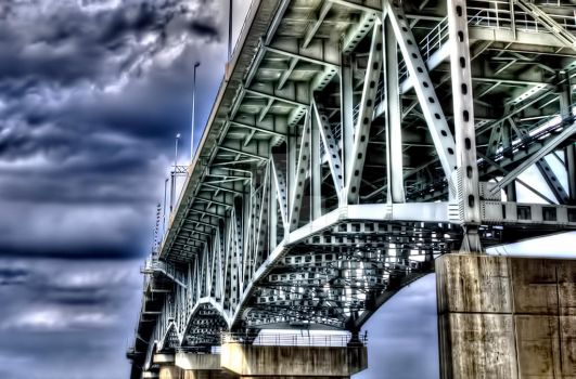 The George P. Coleman Memorial Bridge by nomisdice