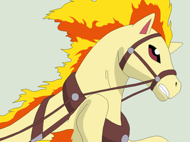 Pokemon Base 57~Ponyta 1~