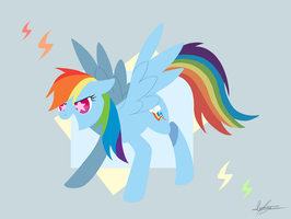 Rainbow Dash! by PegaSisters82