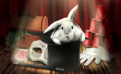 Commission #15: White Rabbit by Martith