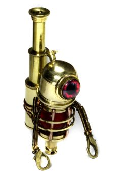 Little Steampunk Robot Sculpture by CatherinetteRings