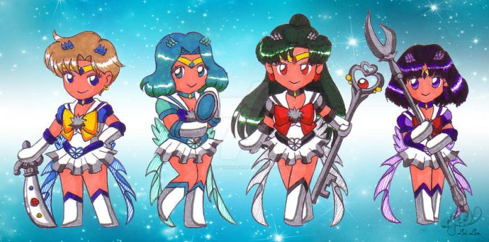 Outer Crystal Senshi by Shadowgirlfan