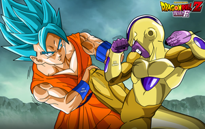 Goku SsGss Vs Golden Freezer by SaoDVD