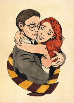 Harry and Ginny by coleslawari