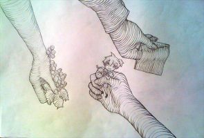 Hands Line Drawings by yune-d