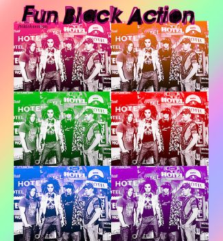 Fun Black Action by tokiobsession