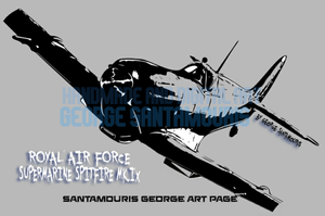 Spitfire Supermarine Mk.Ix Comic Edition by SANTAMOURIS1978