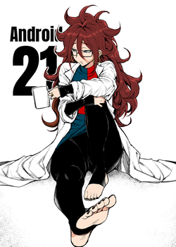 Android 21's Feet (Coloured) by DocHasegawa