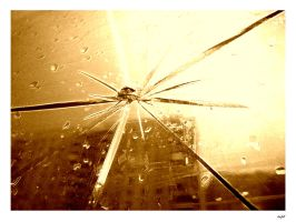 Sun on the broken glass by tiefel