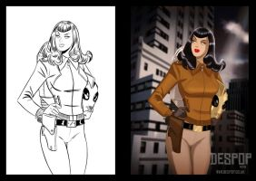 Commission for Jeremy Staples - Betty Rocketeer by DESPOP