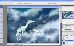 Screenshot: Cloud Dragon WIP by calger459