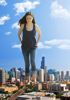 Giantess Mila Kunis by dochamps