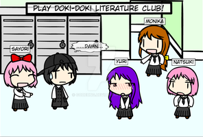 (walfas) Doki-Doki Literature club! by Godeung