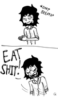 Eat Shit by Qille