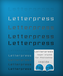 Letterpress Layer Styles by Idered