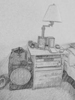 Subwoofer and Lamp by WickedOffKiltah