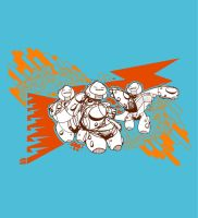 Future Fat Guys Tee Shirt by Jawa-Tron