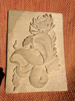 Snake carving W.I.P. by Crimzen250