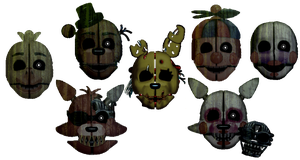 Springlock Masks Vague 5 (FNaF3) by TheRealBoredDrawer