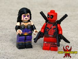 LEGO Deadpool and Shiklah by Saber-Scorpion