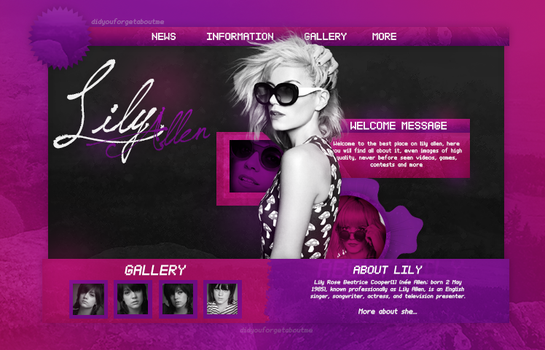 ++Lily Allen Website 2 by DidYouForgetAboutMe