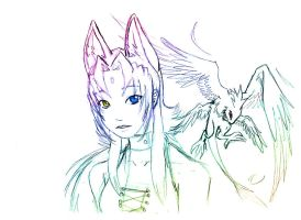 Meily and Fable by prika-senpai