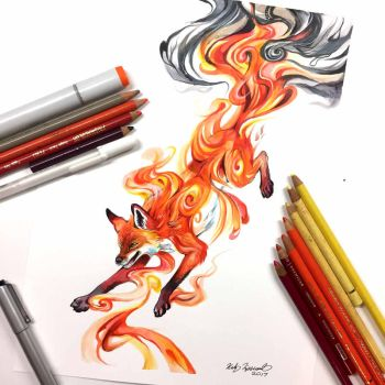 Fire Fox Transformation by Lucky978