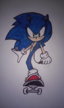 Sonic Stake Boarding Colored by Wolf1226