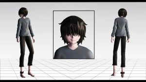 (MMD Little Nightmares + DL) The Runaway kid by Morionchik