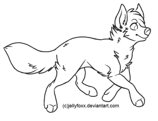 Free Wolf Lineart by Jellyfoxx