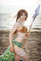 Pool party Nidalee cosplay by Nyandalee
