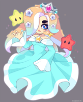 Splatoon: Octoling Rosalina and Starfish Luma by QueenAshi