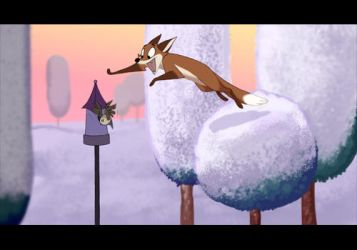 Fox Jump Animation by moonmystique