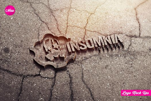 Industrial Photorealistic 3D Logo Mock-Up by Industrykidz