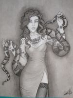Tattooed girl by Delineanteartistico