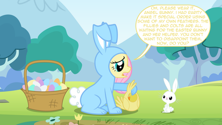 Easter Special - Bunnershy and Angel Chicky? by mandydax
