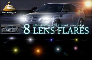 8 Hi-Res Lens Flares by HJR-Designs