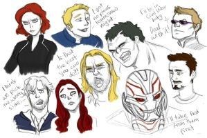 Age of Ultron sketches by pencilHead7