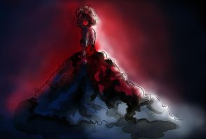 Lady in Red II by dyingrose24