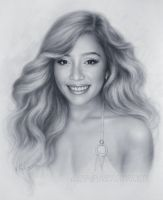 Michelle Phan Portrait Drawing by Drawing-Portraits