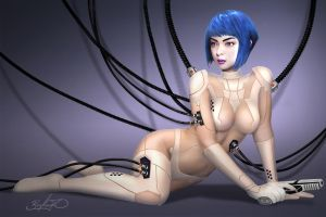 GHOST IN THE SHELL, Major Motoko Kusanagi by Binoched