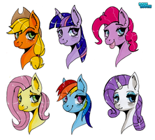 Mane 6 Headshots by PoneBooth