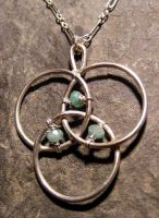 Emerald Protection Necklace by MoonLitCreations