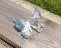 Stained CD Butterfly Sculpture by KryativeLotus
