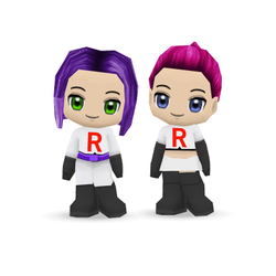 Jessie and James BuddyPoke Papercraft Models by Skele-kitty