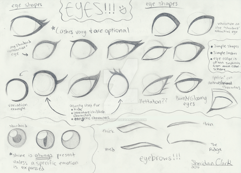 How I do Eyes and Eyebrows by MajesticReaper