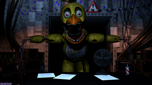 [4k SFM] Withered Chica In the Office by ShadingShadowSFM
