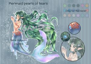 [AUCTION OPEN] Mermaid pearls of tears adopt